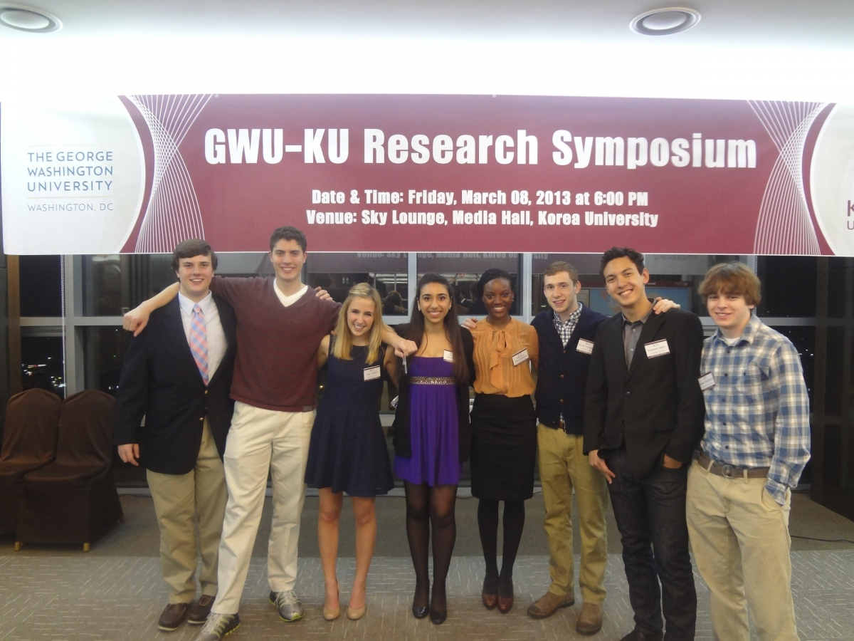 Korea University Study abroad students at the GWU-KU research symposium