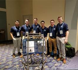 Left to right: MAE students Aaron Patron, Delon Etzel, Conor Gillespie, Jason Xiang, Austin Sabbagha, and Andrew Edzenga